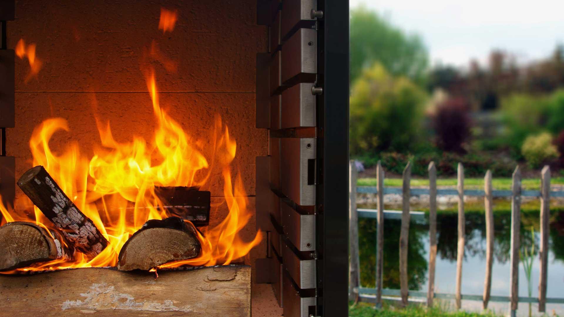 Grillkamin als Feuerstelle